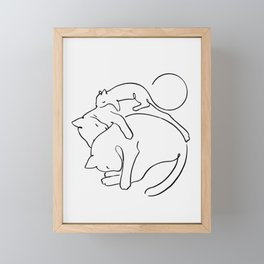 Cats line art 1 Framed Mini Art Print
