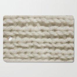 White Wool Knitting Texture Cutting Board