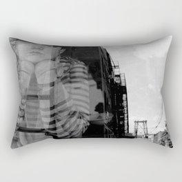 Williamsburg Bridge Analog Rectangular Pillow
