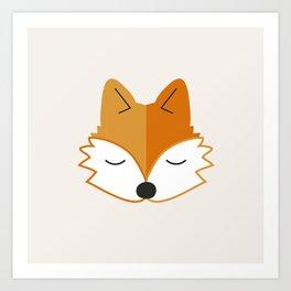 Cute Fox Head Art Print