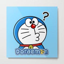 Doraemon COnfuse Metal Print