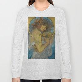 "Alphonse Mucha ""Study for a poster - Fruit"" Long Sleeve T-shirt"