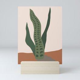 Snake Plant Abstract Mini Art Print