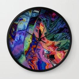 Quadruple rainbow wave Wall Clock