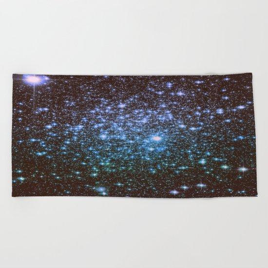 Winter Blues Galaxy Stars Beach Towel