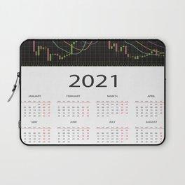 Candlestick chart calendar 2021 Laptop Sleeve