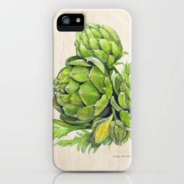 Artichokes and their Blossoms iPhone Case