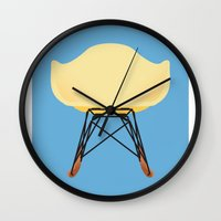 eames Wall Clocks featuring Eames RAR by don't worry be happy