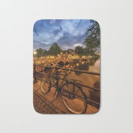 AMSTERDAM Evening impression from Brouwersgracht Bath Mat