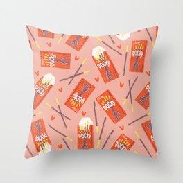 Pocky Time Throw Pillow