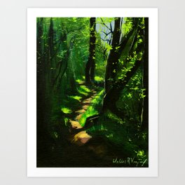 Through the Woods, Rooster Rock State Park - Oregon Art Print