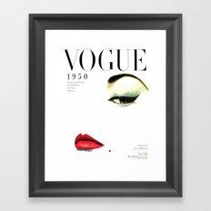 Fashion Print Gift Women Vogue Print Vogue Cover vogue cover 1950 Fashionista Fashion Decor Wall art Framed Art Print