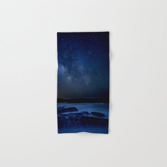 Dark Night California Coastal Waters Hand & Bath Towel