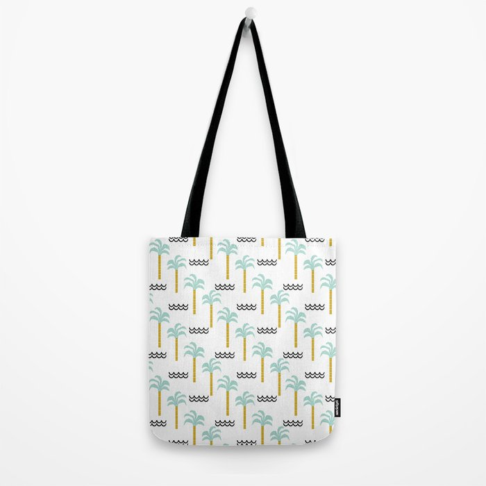 Palm Tree tropical island vacation wave water socal hawaii beach life salt life chilled out vibe Tote Bag