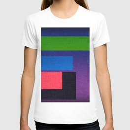 Geometric drawing in colors T-shirt