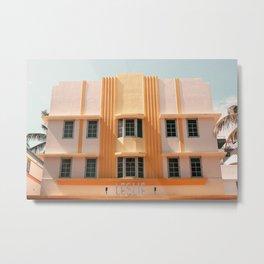 Leslie - Miami Architecture Photograph Metal Print