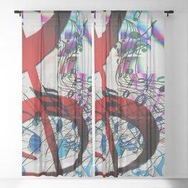 Music Music Music! Sheer Curtain