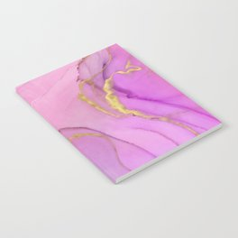 Abstract alcohol ink painting - Selina Notebook