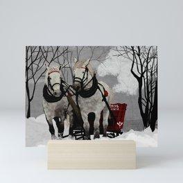 Winter Sleigh Ride Mini Art Print