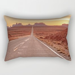 The Way West Monument Valley Arizona Sunset American West Landscape Rectangular Pillow