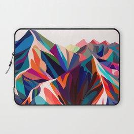 Mountains sunset warm Laptop Sleeve