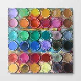 watercolor palette Digital painting Metal Print