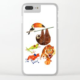 Rainforest animals 2 Clear iPhone Case