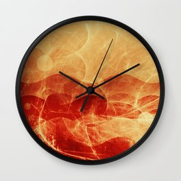 Energy Waves - Fire Version Wall Clock