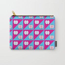 Apples halves pop art pink blue Carry-All Pouch