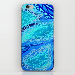 Turquoise Current iPhone Skin