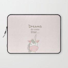 Dreams do come true art print, unicorn print, art for kids, art for baby, kids room decor Laptop Sleeve