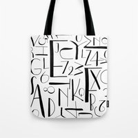 deco Tote Bags featuring deco. by The Higgins Creative.