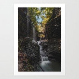 Rainbow Falls - Watkins Glen State Park Art Print