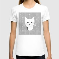stripe T-shirts featuring Stripe Kitty by OMG Catz