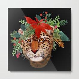 Leopard in December Metal Print
