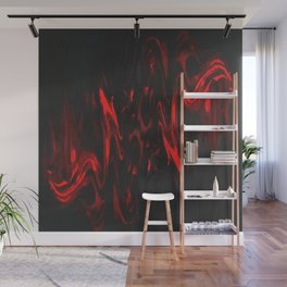 Red and Black Halloween Decor Fluid Abstract 47 Wall Mural