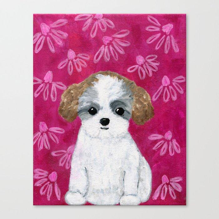 Puppy Painting Bichon Shih Tzu Teddy Bear Puppy Dog Art Kids