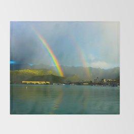 Hawaii Double Rainbow Throw Blanket