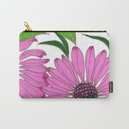 Echinacea by Mali Vargas Carry-All Pouch