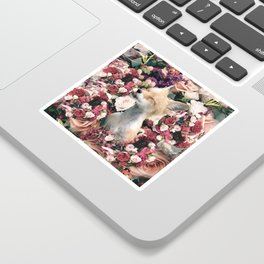 Cute Floral Fox Flower Sticker
