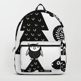 Be Wild Cute Owl And Squirrel In Scandinavian Style Backpack