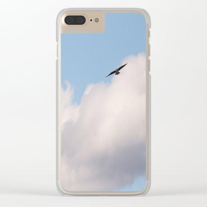 Osprey in Blue Sky #decor #society6 #buyart Clear iPhone Case