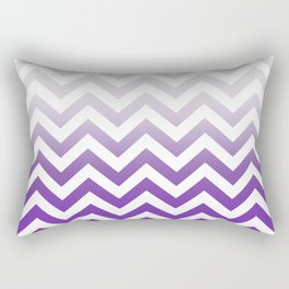 PURPLE FADE TO GREY CHEVRON Rectangular Pillow