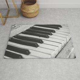 Vintage piano Rug