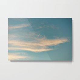 Teal Sky with Yellow Clouds Metal Print