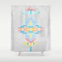 navajo Shower Curtains featuring Navajo by Marta Olga Klara
