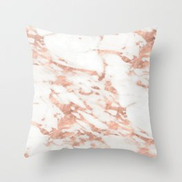 Taggia rose gold marble Throw Pillow