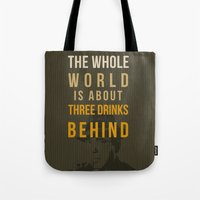 actor Tote Bags featuring movie actor quote by Larsson Stevensem