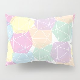Pastel D20 Pattern Dungeons and Dragons Dice Set Pillow Sham