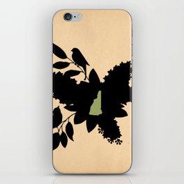 New Hampshire - State Papercut Print iPhone Skin